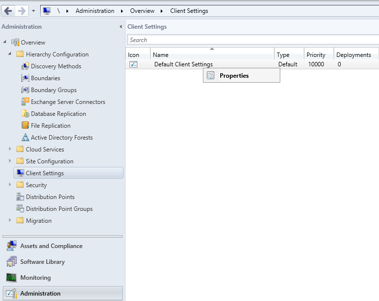 Configuring Client Settings in SCCM 2012 R2