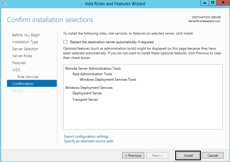 Installing and Configuring WDS in Windows Server 2012 R2