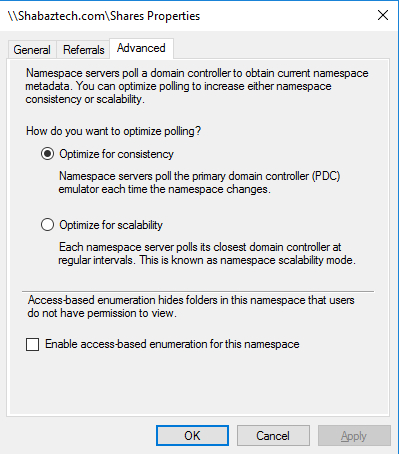 Installing and Configuring DFS-N on Windows Server 2016